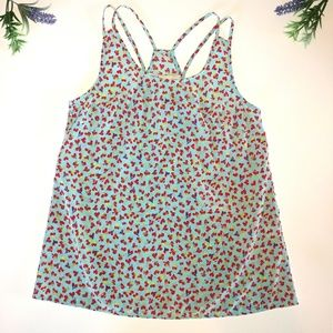 Francesca's Paraella Heart Tank Top Size Small